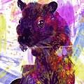 Animal Attractive Beautiful Brown  by PixBreak Art