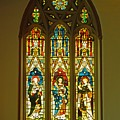 3 Apostles South Stained Glass Window Christ Church Cathedral 1 by Mark Sellers