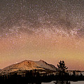 Aurora Borealis And Milky Way by Joseph Bradley