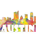 Austin Texas Skyline by Marlene Watson