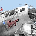 B-17g Flying Fortress Sentimental Journey 2 Avra Valley Arizona 1991 Color Added 2008 by David Lee Guss