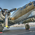 B17 Flying Fortress On The Ramp At Livermore by John King