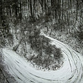 Bad Road Conditions While Driving In Winter by Alex Grichenko