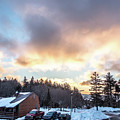 Beautiful Sunrise Over Horizon On Snowshoe Mountain West Virgini by Alex Grichenko
