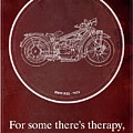 Bmw R32 1923 - For Some There's Therapy, For The Rest Of Us There's Motorcycles by Drawspots Illustrations