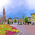Bolzano Main Square Waltherplatz Panoramic View by Brch Photography