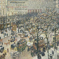 Boulevard Des Italiens, Morning, Sunlight by Camille Pissarro
