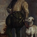 Boy With A Greyhound by MotionAge Designs