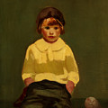 Boy With Baseball by George Luks