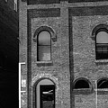 Burlington North Carolina - Arches And Alley Bw by Frank Romeo