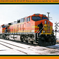 Burlington Northern Santa Fe Bnsf - Railimages@aol.com by Ronald Estes