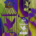 3 Caged Birds by Angelina Tamez