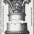 Capital And Base Of A Column by Sebald Beham