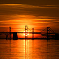 Chesapeake Bay Bridge Sunset by Mark  Dignen