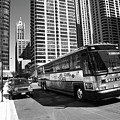 Chicago Bus And Buildings by Frank Romeo