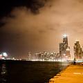 Chicago Skyline Fireworks by Anthony Doudt