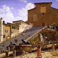 3 Christoffer Wilhelm Eckersberg     The Marble Steps Leading Up To Santa Maria In Aracoeli In Rome by Artistic Rifki