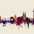 Cologne Germany Skyline by Michael Tompsett