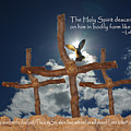 3 Crosses Descent Of Holy Spirit by Robyn Stacey