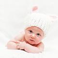 Cute Newborn Portrait by Gualtiero Boffi