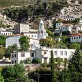 Dhermi Traditional Village View In Southern Albania by Jacek Malipan
