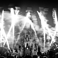 Disney Castle At Night by Fizzy Image