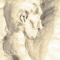 Drawing Of Ancient Sculpture by Karina Plachetka