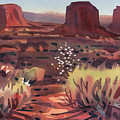 Evening In Monument Valley by Donald Maier