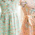 Floral Pattern Young Girl Dresses In Shop by Jacek Malipan