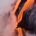Flowing Pahoehoe Lava by Ron Dahlquist - Printscapes