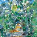 Forest Scene by Paul Cezanne