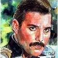 Freddie Mercury Portrait by Suzann Sines