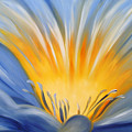 From The Heart Of A Flower Blue by Gina De Gorna