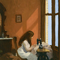 Girl At Sewing Machine by Edward Hopper