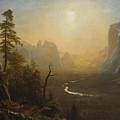 Glacier Point Trail by Albert Bierstadt