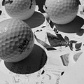 3 Golf Balls Enter Art Competition by Evguenia Men