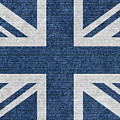 Great Britain Denim Flag by Iurii Vlasenko