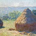 Haystacks, End Of Summer by Claude Monet