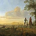 Horsemen And Herdsmen With Cattle by Aelbert Cuyp