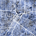 Houston Texas City Street Map by Michael Tompsett