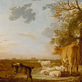 Landscape With Cattle by Celestial Images