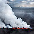 Lava And Plumes From The Holuhraun by Panoramic Images