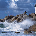 Lighthouse On The Coast, Pontusval by Panoramic Images