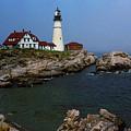 Lighthouse - Portland Head Maine by Frank Romeo