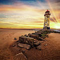 Light House Sunset by Adrian Evans