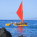 Maui Sailing Canoe by Ron Dahlquist - Printscapes