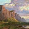 Mount Arapiles And The Mitre Rock by Nicholas Chevalier