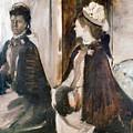 Mrs Jeantaud In The Mirror  by Edgar Degas