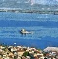Nafplio Town And Bourtzi Fortress by George Atsametakis