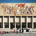 National Historical Museum Landmark And Mosaic Mural In Tirana A by Jacek Malipan